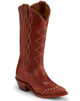 Tony Lama Emilia Wingtip Cognac Womens Western Boots