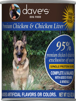 Dave's Premium 95% Chicken Canned Dog Food 13oz