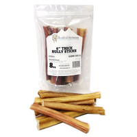 "The Natural Dog Company 6"" Thick Odor Free Bully Stick 8oz Bag"