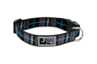 RCPets Clip Dog Collar Black Plaid
