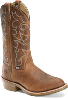 "Double H Men's 12"" Domestic Gel Ice Work Western Boots - Tan"