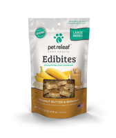 Pet Releaf Edibites Large Breed Peanut Butter & Banana