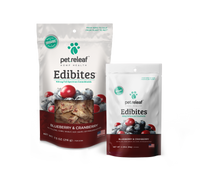 Pet Releaf Edibites Blueberry and Cranberry
