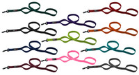 DogLine Nylon Multi-Handle Flat Leash 4ft