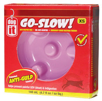 DogIt Go Slow Anti-Gulping Extra Small Dog Pink Dish