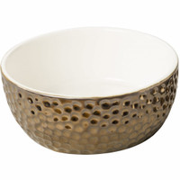 "Vesuvius Gold 5"" Pet Dish"