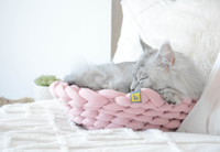 Cat Knit Pink Bed