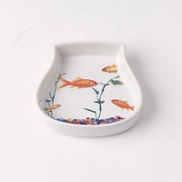 In The Tank Fish Bowl Cat Saucer
