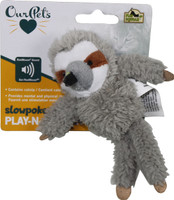 Play-N-Squeak Sloth Cat Toy