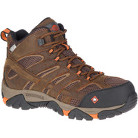 Mens Moab Vertex Mid Waterproof Composite Toe Work Boot