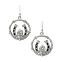 Wreathed Horseshoe Treasure Earrings