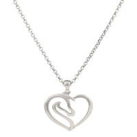 Equestrian Heart Necklace