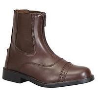 TuffRider Starter Front Zip Paddock Kids Brown Boots