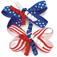 Aria Patriotic Pet Barrettes