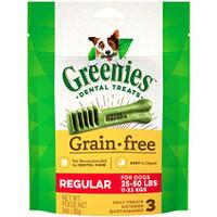 Greenies Grain Free Regular Size Dental Dog Chews 3oz