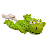 Little Barks Cozy Krinkle Frog Dog Toy