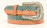 Ladies Americana Flag Belt