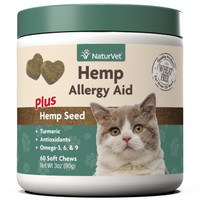 Hemp Allergy Aid Soft Chew for Cats 60 count