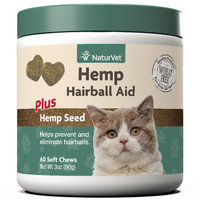 Hemp Cat Hairball Aid Soft Chew 60 count