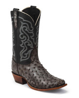 McCloud Ostrich Tobacco Full Quill Men's Square Toe Western Boot