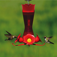 Pinch Waist Plastic Hummingbird Feeder