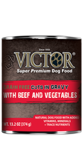 Victor Grain Free Beef and Vegetable Cuts in Gravy 13.2oz
