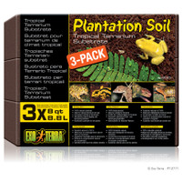 Exo Terra Plantation Soil 8qt - 3 pack