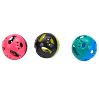 Turbo Plastic Ball Cat Toy with Fish Cutouts