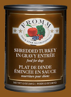Fromm Four-Star Grain Free Shredded Turkey in Gravy Dog Food 12oz
