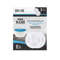 Zeus H2EAU Triple Action Fountain Filters - 2 pack
