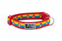 RCPets Rainbow Paw Clip Dog Collar