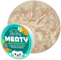Tiki Dog Meaty Chicken with Duck in Broth Dog Food