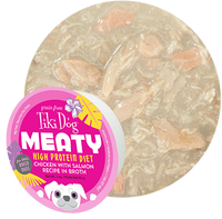 Tiki Dog Meaty Chicken with Salmon in Broth Dog Food
