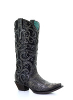 Corral Women's Black Overlay Sequin and Studded Western Boot
