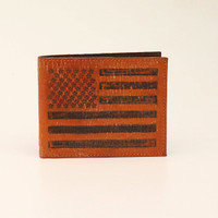 Flag Leather Bifold Men's Wallet
