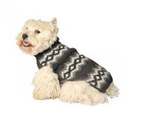 Gray Diamonds Dog Sweater