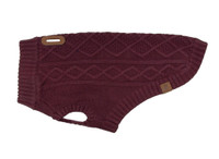 RCPets Maroon Cable Knit Dog Sweater