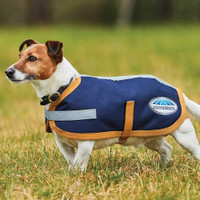 Weatherbeeta Parka 1200D Dog Coat - Navy/Gold