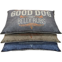 Good Dog Graphic Pillow Bed - Assorted Colors