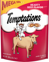 Temptations Hearty Beef Flavor Cat Treats, 6.35 oz