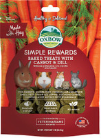 Oxbow Simple Rewards Oven Baked with Carrot & Dill Small Animal Treats, 3 oz bag