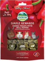 Oxbow Simple Rewards Oven Baked with Bell Pepper Small Animal Treats, 3 oz bag