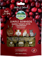 Oxbow Simple Rewards Oven Baked with Cranberry Small Animal Treats, 3 oz bag
