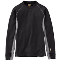 Timberland Men's PRO Skim Coat Heavy Warmth Thermal Long Sleeve, Black