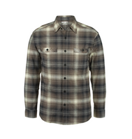 Men's Grayson Stretch Long Sleeve Flannel - Gunmetal Plaid