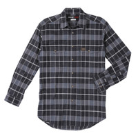 Wrangler Shirt Long Sleeve Flannel RIGGS Workwear - Smokey Blue