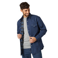 Wrangler® Cowboy Cut® Flannel Lined Mens Shirt  - Navy
