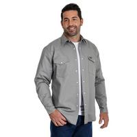 Wrangler® Cowboy Cut® Flannel Lined Mens Work Shirt - Grey