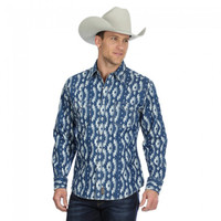 Wrangler Men's Long Sleeve Retro Premium - Indigo