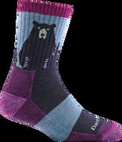 Darn Women's Bear Town Socks - Purple